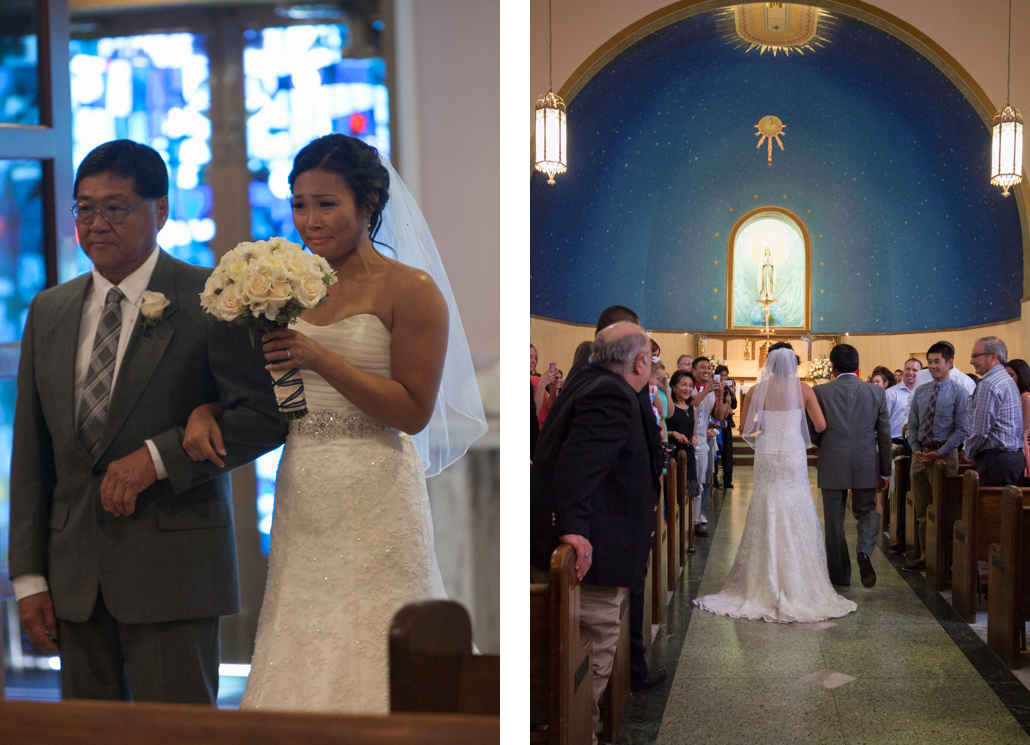 bride enters