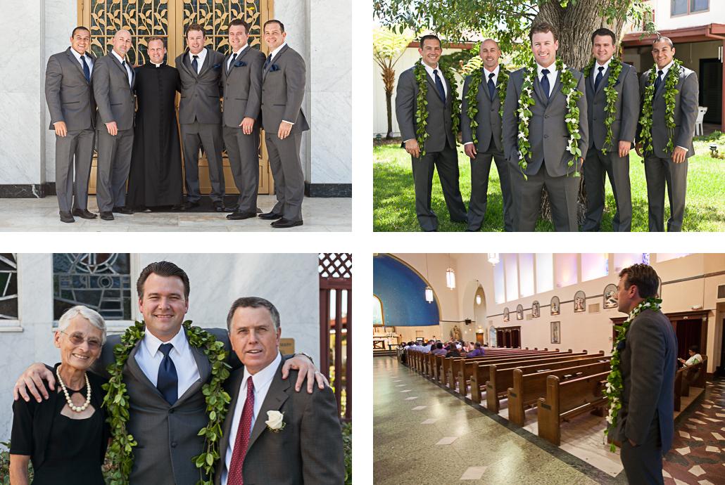 groomsmen before ceremony