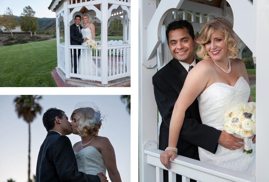 bride and groom gazebo