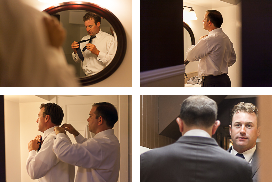 groom getting dressed